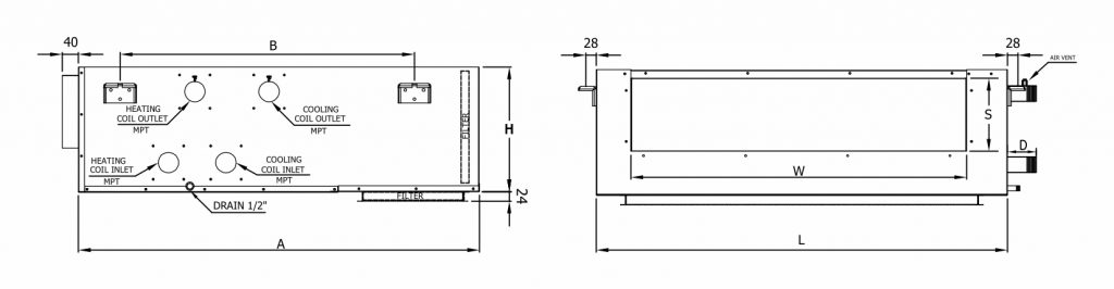 ducted fan coil 4pipe schematic