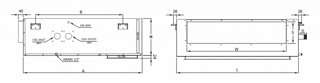 ducted fan coil 2pipe schematic